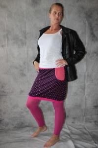 Ballonrock, Ballon-Rock, Jersey Rock mit Punkten, lila pink Gr. 36 - 44 - Handarbeit kaufen