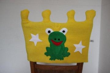 Stuhl Husse Krone Name Stuhlhusse Überwurf Frosch Kindergarten Tagesgruppe - Handarbeit kaufen