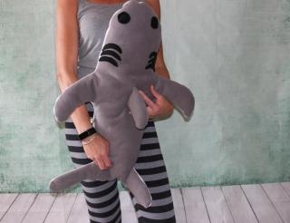 Hai Kissen Kuschelkissen Hai Plüschtier Kissen super großes Hai Kuscheltier - Handarbeit kaufen