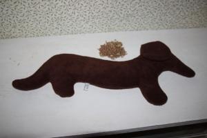 Dackel Wärmekissen Körnerkissen Weizen Kissen Hund - Handarbeit kaufen