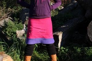 pinker Fleece Rock A- Form Ausgestellter Rock Gr. 36 - 44 - Handarbeit kaufen