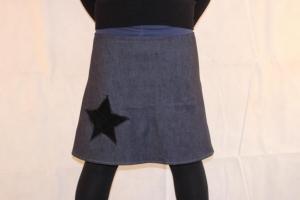 Jeansrock, Stretch Rock, Jeans Rock, Stern blau oder schwarz knielanger Rock, midi Gr. 36 - 44 (Kopie id: 100147108) - Handarbeit kaufen
