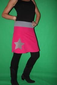 Cord Rock A- Form pinker Cordrock Stern skirt star - Handarbeit kaufen