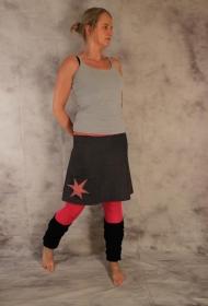 Jeansrock, A-Form, Rock, Jeans Rock, Stern, knielanger Rock, Stretch Rock Gr. 36 - 44 - Handarbeit kaufen