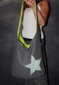 Kunstledertasche Yogatasche Tasche Yoga XXL Umhängetasche Kunstleder Stern - Handarbeit kaufen