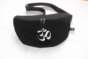 Goa Bauchtasche Om schwarze Gürteltasche Hip Bag Bauch Tasche Beutel - Handarbeit kaufen