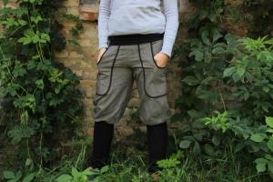 Knickerbocker, Pumphose, Jeans mit Stulpen, graue Jeanshose  - Handarbeit kaufen