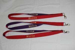 Schlüsselanhänger mit Name Namensbänder Umhängeband