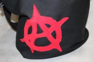 schwarze Yogatasche Tasche Yoga XXL Umhängetasche Punk Anarchie - Handarbeit kaufen