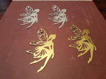 Feen - Silber/Gold - Stanzteile - Scrapbooking