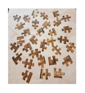 Puzzleteile - Holzoptik - Stanzteile - Scrapbooking
