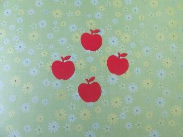 rote Äpfel - Stanzteile - Scrapbooking