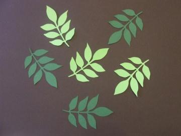 Zweig mit Blättern - Stanzteile - Scrapbooking