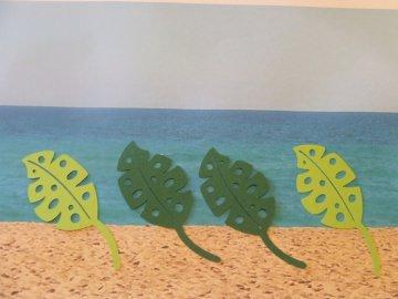 Palmenblätter - Strand - Stanzteile - Scrapbooking