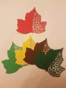 Herbstblätter - Stanzteile - Scrapbooking