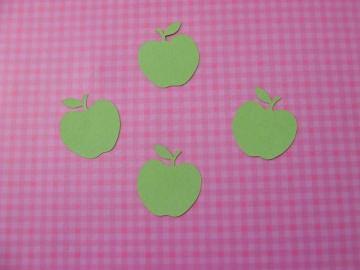 grüne Äpfel - Stanzteile - Scrapbooking