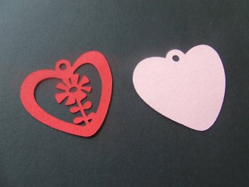 Herz mit Blume - Geschenkanhänger - Muttertag