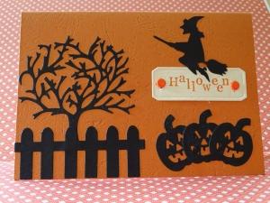 Halloween - Karte - Hexe