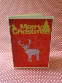 Weihnachtskarte - Hirsch