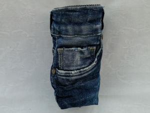 Neuheit: Upcycled Jeans - Schutz - Hülle für Trinkflaschen /Getränke - Halter - Handarbeit kaufen