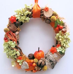 kleiner Türkranz °HERBST° Türdeko Deko Türkranz Herbst ♥ DEKORATION ♥ Deko♥ KRANZ Landhauskranz, orange Sommerkranz, Herbstkranz