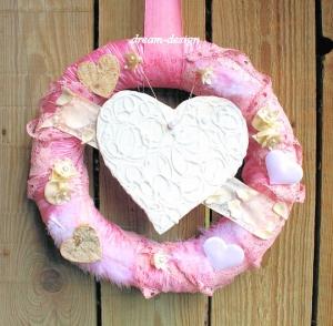 ♥romantischer Türkranz °LOVETIME° Türdeko m.Herz♥ +Kranz Türkranz Türdekoration Dekoration Geschenk Hochzeit Muttertag+