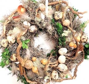 Türkranz OSTERN mit frischem Buchsbaum Kranz Ostern Osterkranz Türkranz Türdekoration Dekoration Landhaus Naturkranz