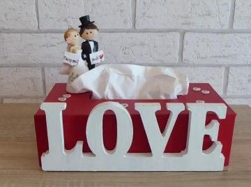 Taschentuch-/Kosmetiktuchbox - Hochzeit