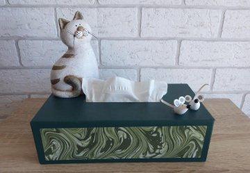 Taschentuch-/Kosmetiktuchbox - Katze