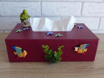 Taschentuch-/Kosmetiktuchbox - Unterwasserwelt - Handarbeit kaufen