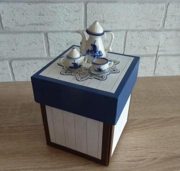 Geldgeschenkverpackung - Kaffeetafel