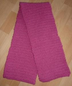 gehäkelter Schal - pink - Handarbeit kaufen