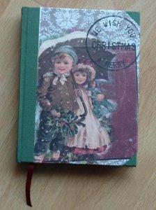 Handgebundenes Notizbuch - Weihnachtsmotiv - Kinder - Handarbeit kaufen