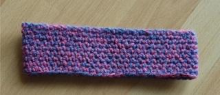 gehäkeltes Stirnband - blau-pink - Handarbeit kaufen