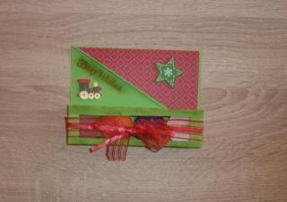 Teelichtgeschenkset mit vier Teelichtern - rot-grün TEXT: Best Wishes
