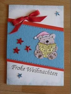 Weihnachtskarte Bärchen - TEXT Frohe Weihnachten
