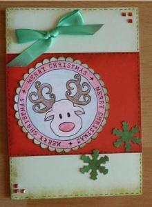Weihnachtskarte Rentier - TEXT: Merry Christmas
