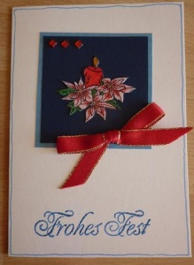 Weihnachtskarte Kerze - TEXT: Frohes Fest