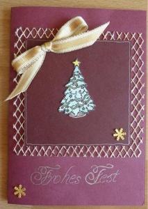 Weihnachtskarte Weihnachtsbaum - TEXT: Frohes Fest
