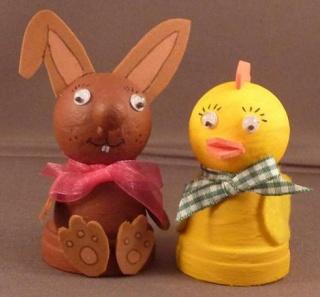 Mini-Tontopf - Huhn und Hase