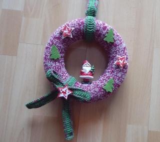Türkranz mit Nikolaus - rot-grün