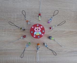 Zehn handgefertigte Handyanhänger mit Metallflügeln - Engel inkl. Geschenkschachtel - Handarbeit kaufen