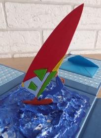 Geldgeschenkverpackung - Surfer