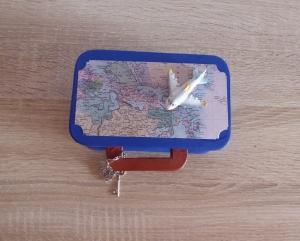 Geschenkverpackung Koffer - Flugreise - Handarbeit kaufen