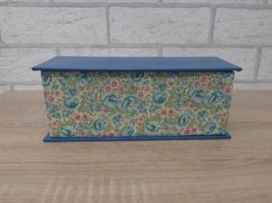 Handgefertigte Geschenkverpackung aus Pappe, Papier und Buchleinen - Blumenmotiv - Handarbeit kaufen