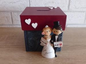 Handgefertigte Spardose - Hochzeit Brautpaar