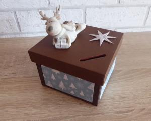 Handgefertigte Spardose - Weihnachten - Rentier