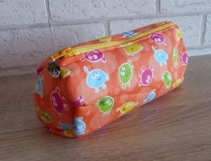 Mäppchen / Tasche für Stifte, Kosmetika oder Ähnliches (orange) - Handarbeit kaufen