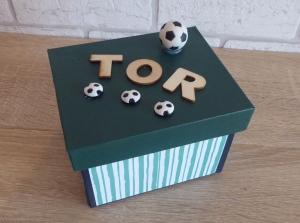 Geldgeschenkverpackung - Fußball  - Handarbeit kaufen