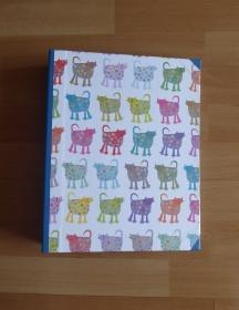 Handgefertigtes Ringbuch für DIN A4 aus Pappe, Papier und Buchleinen - Katzen - Handarbeit kaufen